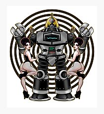 Retro 50's Robot And Fishnet Friends Photographic Print