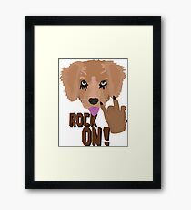 Heavy metal Puppy rock on Framed Print