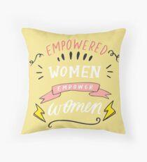 Empowerment for Women Throw Pillow