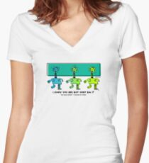 But What Am I? Mimic Master Comic Hero Design - Green Women's Fitted V-Neck T-Shirt