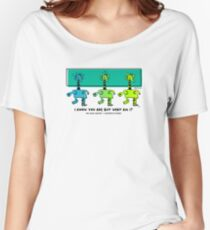 But What Am I? Mimic Master Comic Hero Design - Green Women's Relaxed Fit T-Shirt