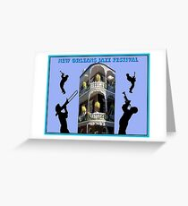 NEW ORLEANS: Jazz Festival Advertising Print Greeting Card