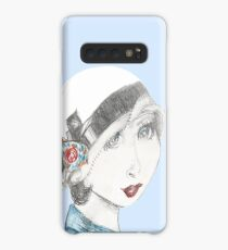 Art Deco Inspired Flapper In Reds and Blues Case/Skin for Samsung Galaxy