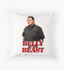 Steven Seagal - Belly Of The Beast Throw Pillow
