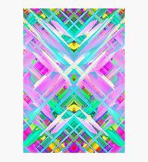 Colorful digital art splashing G473 Photographic Print