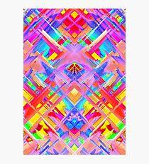 Colorful digital art splashing G470 Photographic Print