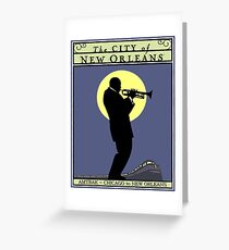 NEW ORLEANS: Vintage Amtrak Train Advertising Print Greeting Card