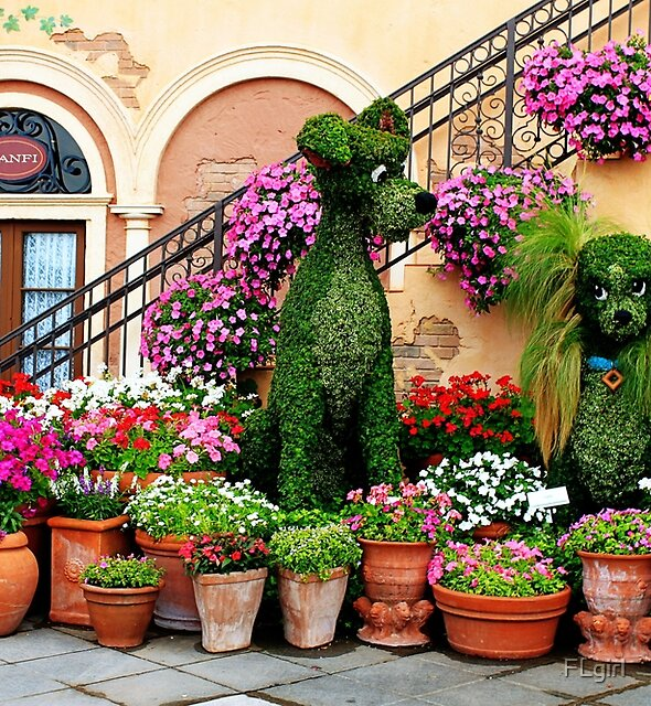 Canines in Love, EPCOT's Flower and Garden Festival by FLgirl
