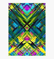 Colorful digital art splashing G467 Photographic Print