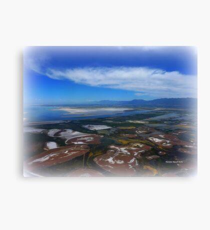 Flying over the Salt Flats of Utah Canvas Print