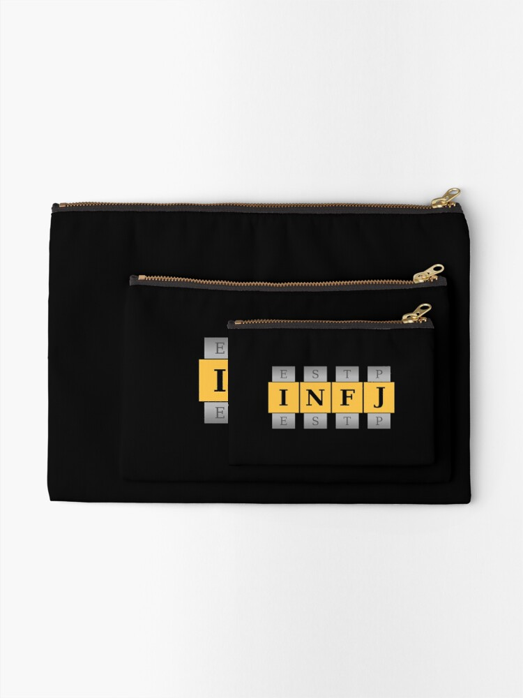 Alternate view of INFJ Spin Zipper Pouch