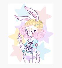 Stop animal testing! Photographic Print