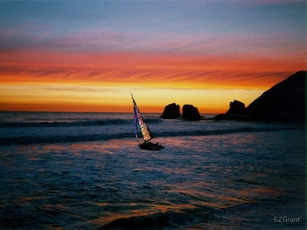 Sunset Sail by EZGrant