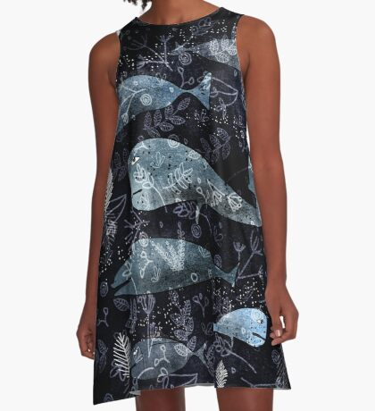 Night at the Sea  A-Line Dress