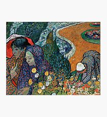 Memory of the Garden at Etten (Ladies of Arles) by Vincent van Gogh (1888) Photographic Print