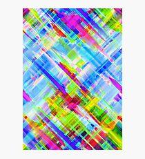 Colorful digital art splashing G468 Photographic Print