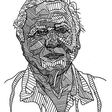 David Attenborough Drawing by Matti-walker