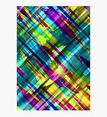 Colorful digital art splashing G72 Photographic Print