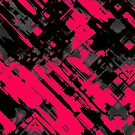 Hot pink and black digital art G75 by MEDUSA GraphicART