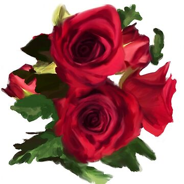 Red Roses bouquet  by Rosedoggz