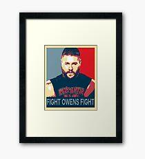 Fight Owens Fight Hope Design Framed Print