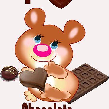 Teddy I Love chocolate  (6361  Views) by aldona