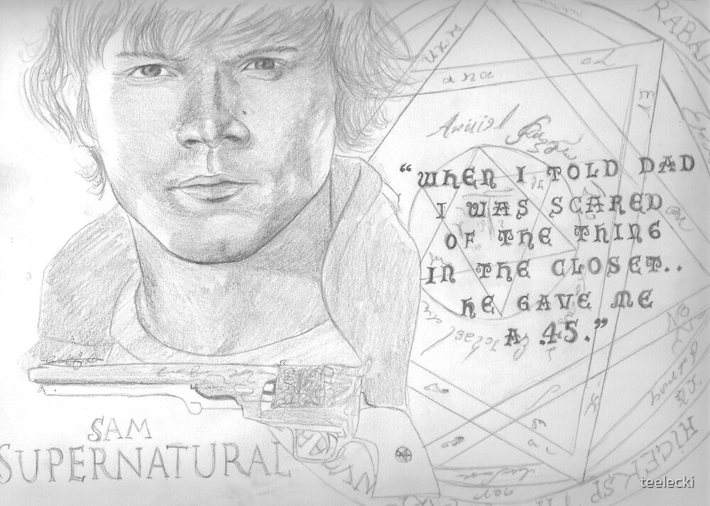 Upcoming: Sam Winchester - he gave me a .45. by teelecki