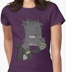 The simpsons Bart simpson Womens Fitted T-Shirt