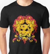 Floral Devil  And Fish Unisex T-Shirt