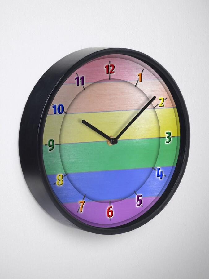 Alternate view of Rainbow PRIDE - Rainbow Clock
