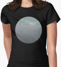 0096 Perth skyline - circle Womens Fitted T-Shirt