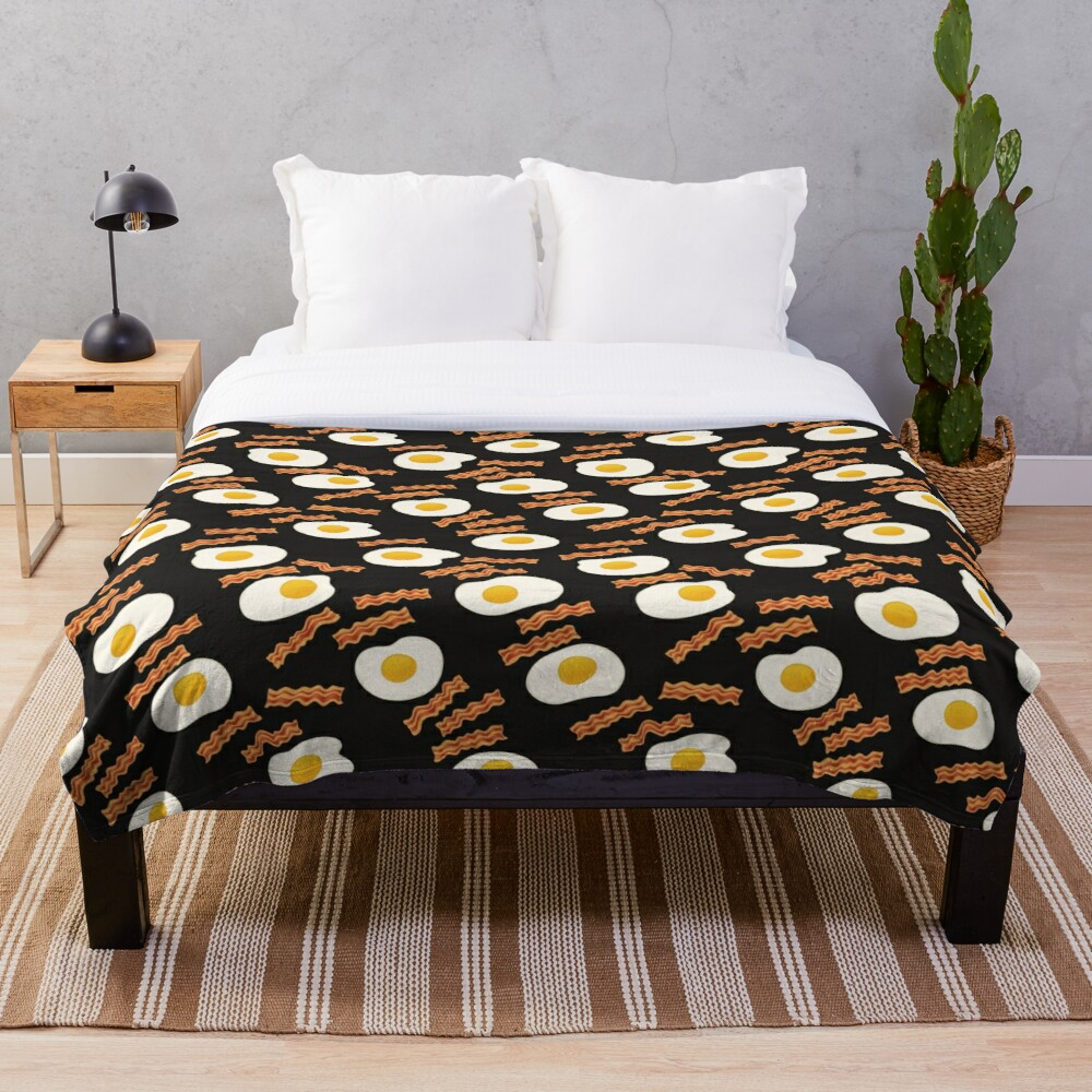Bacon & Eggs Throw Blanket