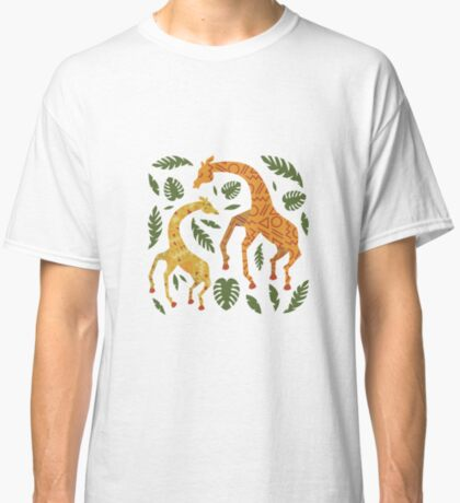 Dancing Giraffes with Patterns Classic T-Shirt
