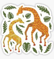 Dancing Giraffes with Patterns Sticker