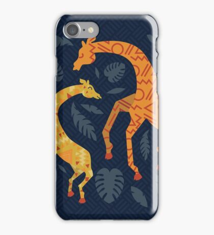 Dancing Giraffes with Patterns iPhone Case/Skin