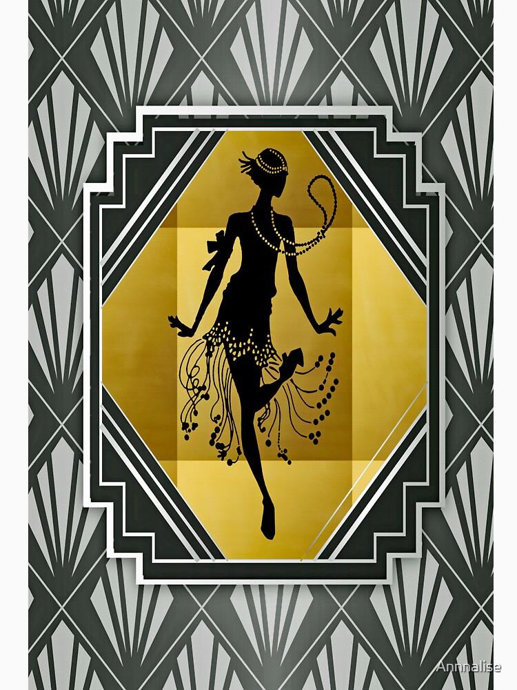 Art Deco Flapper Roaring 20er Jahre Gatsby Style Print von Annnalise