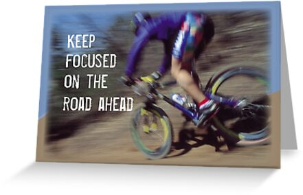 encouragement focus man birthday mountain bike greeting cards by