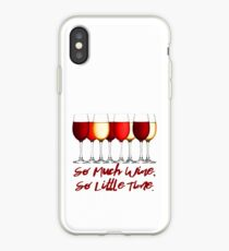 So Much Wine So Little Time iPhone Case