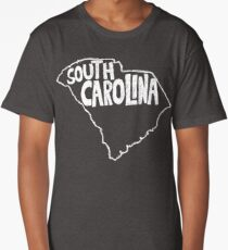 South Carolina (White Graphic) Long T-Shirt