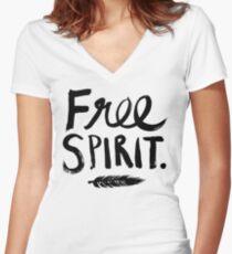 Free Spirit Women's Fitted V-Neck T-Shirt
