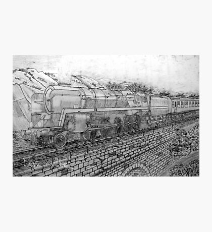 My pencil drawing of The Last of the British Rail Steam Locomotives Photographic Print
