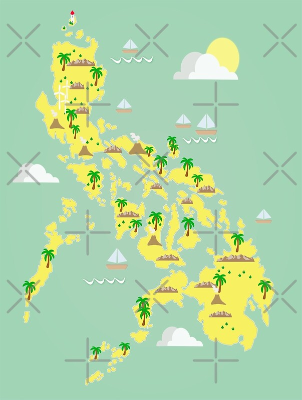 Map of the philippines posters by kikooart27 redbubble map of the philippines by kikooart27 gumiabroncs Gallery