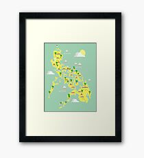 Map of the Philippines Framed Print