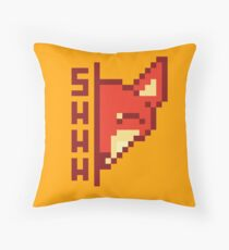 Sleepy fox Throw Pillow