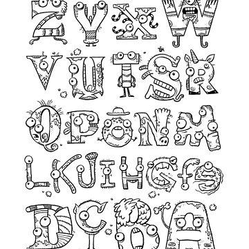 Backward Alphabet by willwood