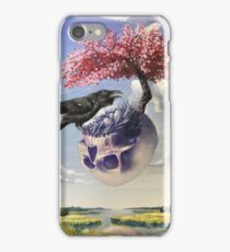 """Secondhand"" Original Oil Painting with Raven and Floating Skull iPhone Case/Skin"