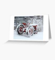 Dependable and Faithful Farmall Tractor Greeting Card