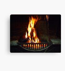 Open Fire - Wilber Farmhouse Canvas Print