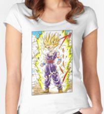 Dragon Ball Z - Gohan Manga Shirt Women's Fitted Scoop T-Shirt
