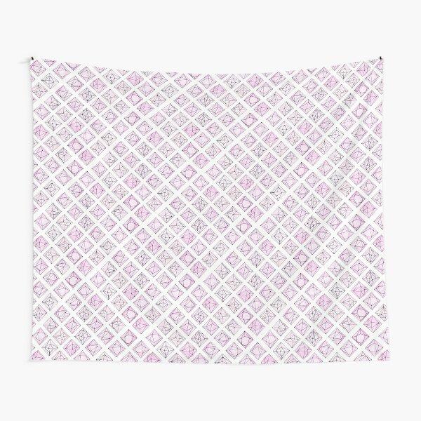 Geo Jewels Pink n White Tapestry